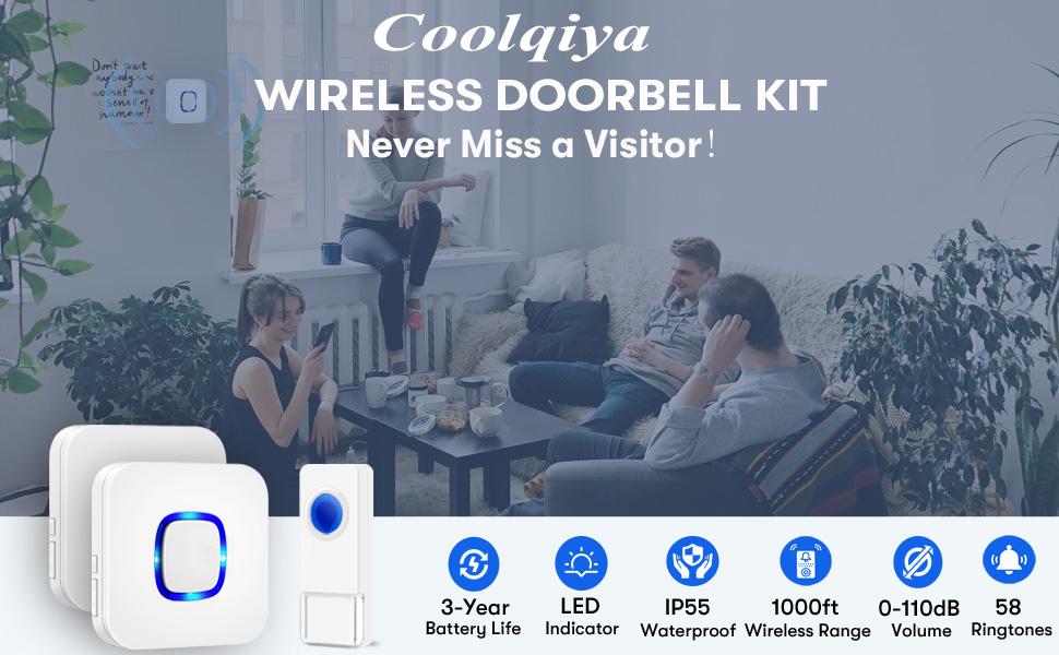 Coolqiya Wireless Door Bells
