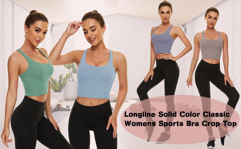longline strappy crop tank tops for women
