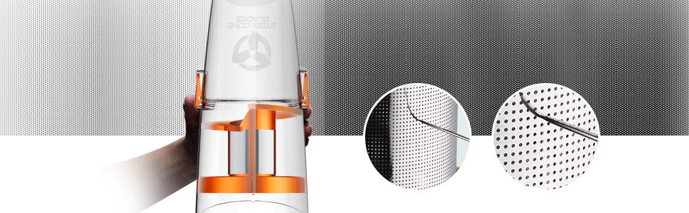 Deerma 2-in-1 Vacuum Cleaner - Steel Filter System