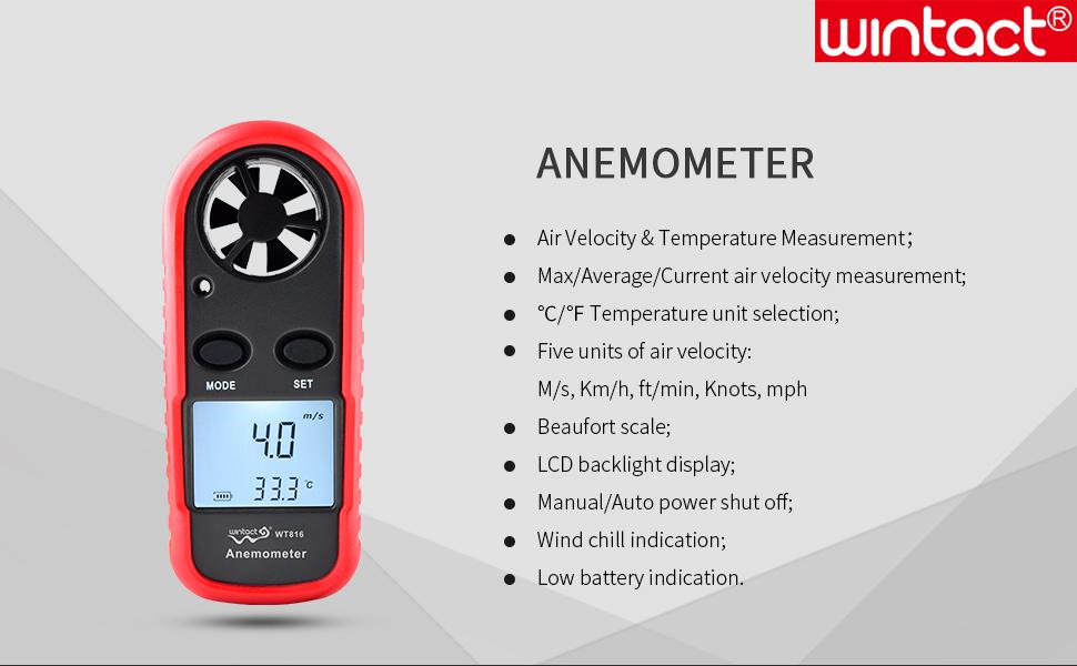 wind speed meter handheld wind meter wind speed anemometer wind velocity meter