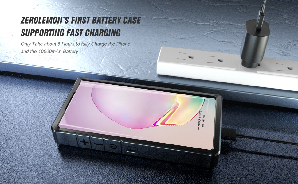 Galaxy Note 10 Plus 10000mAh ZeroShock Battery Case