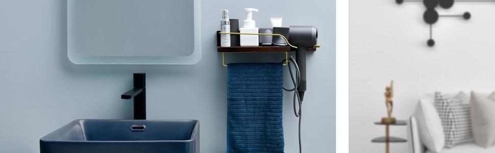 hair dryer rack