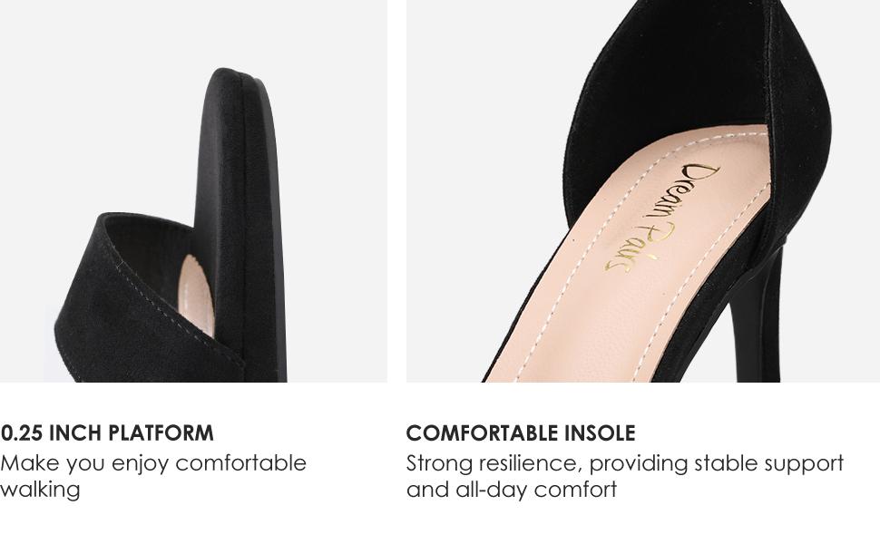 DREAM PAIRS Women's Ankle Strap High Stiletto Heels Pumps Heeled Sandals