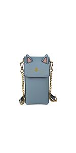 cellphone bag case purse vegan small cat ears animal cute little brentano