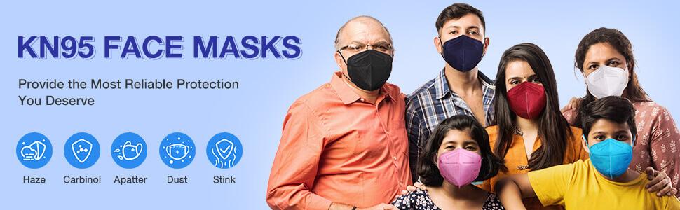 kn95 face mask black