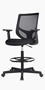 Amazon Com Office Chair Ergonomic Desk Chair Computer Task Chair Mesh With Armrests Mid Back For Home Office Conference Study Room Gray Kitchen Dining