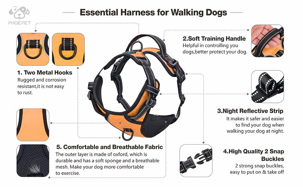 No Pull Dog Harness Orange