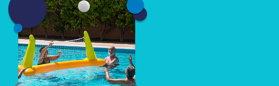 Water Volleyball with Intex Volleyball Pool Volleyball Set