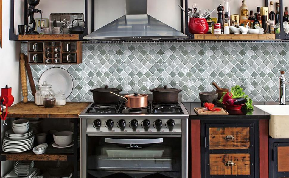 Peel and Stick Tile Backsplash for Kitchen, Stick on Tiles for Backsplash,  Peel and Stick Backsplash Decorative Wall Tiles, Smart Tiles Grey 11\