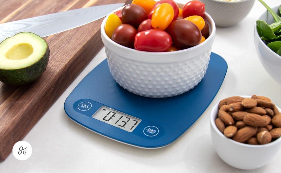 GreaterGoods Digital Food Kitchen Scale (Cobalt Blue)
