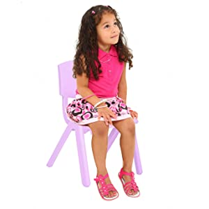 small chair compared to young child