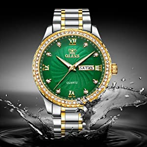 tough classy trendy young men rhinestone watch Watches for Men Waterproof