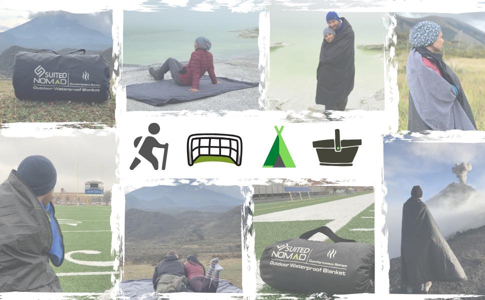outdoor gear hiking mountaineering trekking nomad suitednomad blanket thermal heated warm waterproof
