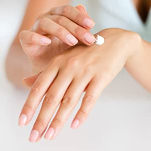Lotion pouring on hand