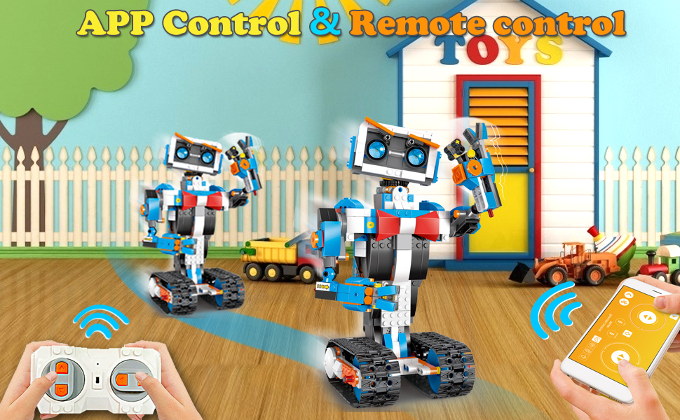 8feab757 87e4 426c 86cf 27770189582c.  CR0,0,970,600 PT0 SX970 V1    - okk STEM Robot Building Block Toy for Kids, Remote and APP Controlled Engineering Science Educational Assembling Learning Kits Intelligent Rechargeable Creative Set for Boys Girls Gift (635 Pieces)
