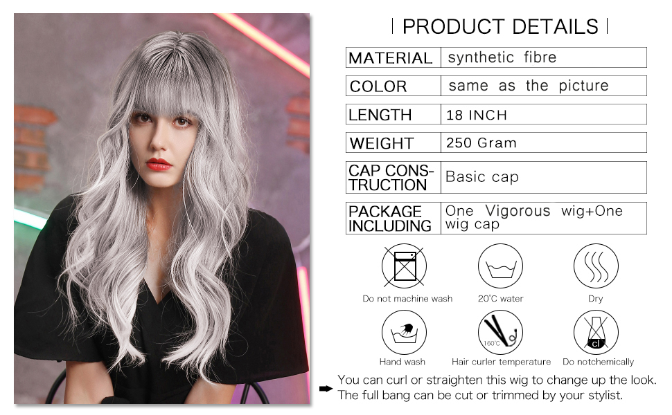 silver wig