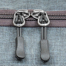 quality zippers magnified image showcasing strength and durability for the Vacation bag