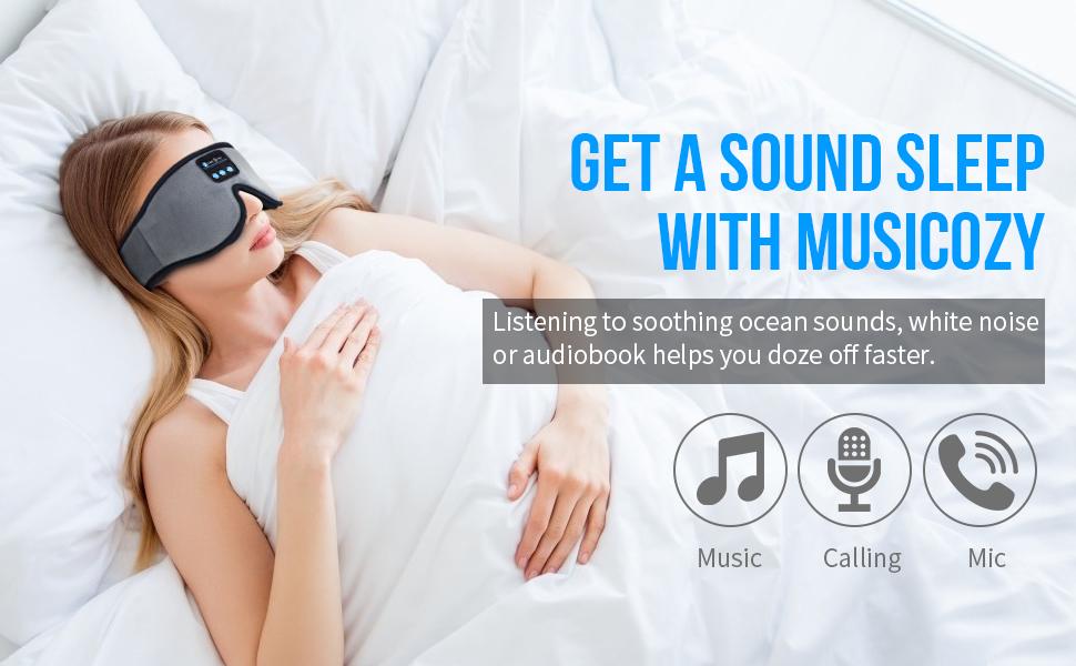 sleep mask headphones headband bluetooth