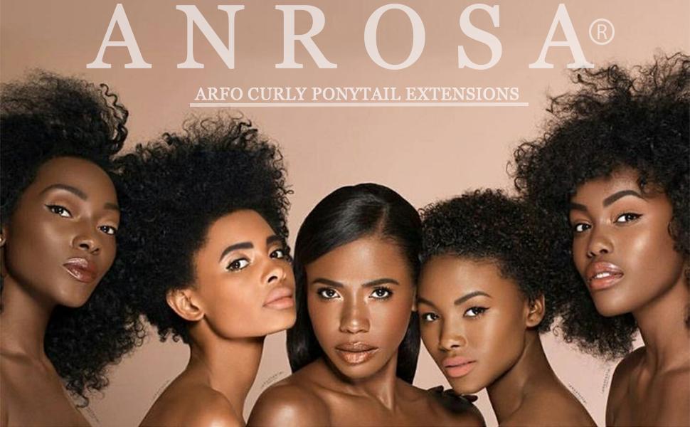 Anrosa Human Hair Ponytail Extenions