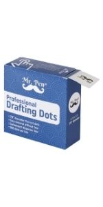 Mr. Pen- Professional Drafting Tape, 500 Pieces Drafting Dots, Art Tape, Tape Dots