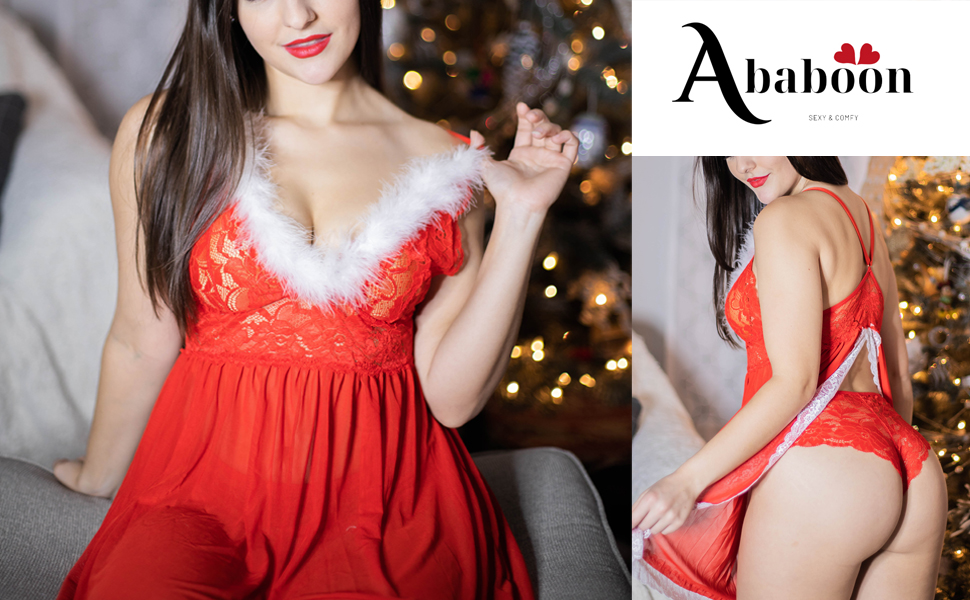 Christmas lingerie shooting