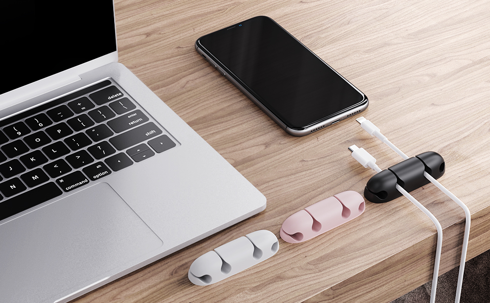 Cable clips holders desk