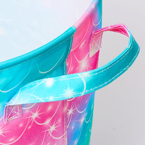 Mermaid Laundry Hamper 43.3L Waterproof Storage Basket