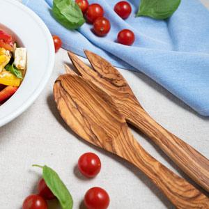 Tramanto Olive Wood Salad Servers