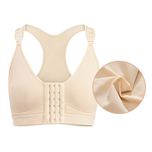 Front Sports Bra Wireless Post-Surgery Bra Active Yoga Sports Bras Post-Surgical Bra Wide bras