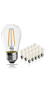 S14 led bulbs-15pack