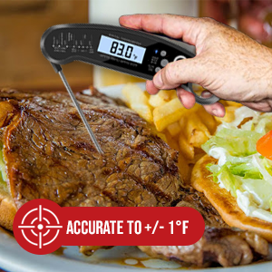 accurate instant digital meat thermometer
