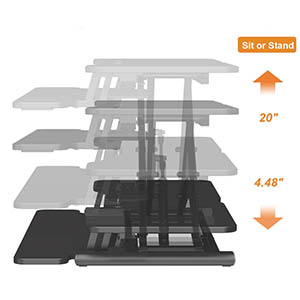 36 inch standing desk