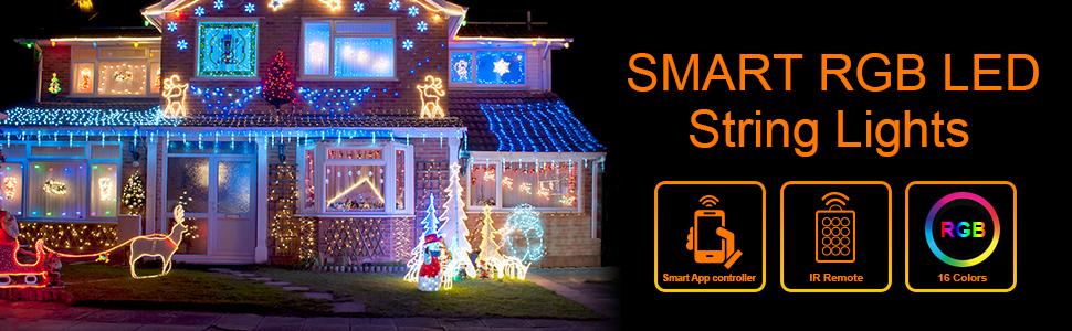 smart RGB led string lights