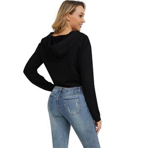 zipper hoodie crop
