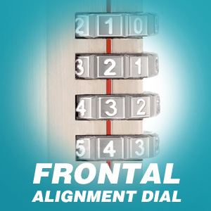 Frontal alignment dial
