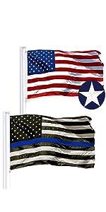 USA + Thin Blue Line SS Combo