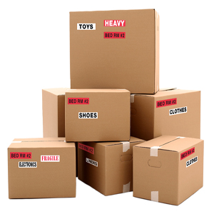 bedroom color coded home moving label stickers