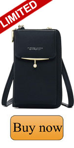 crossbody phone case, baggap - touch screen waterproof leather crossbody phone bag,