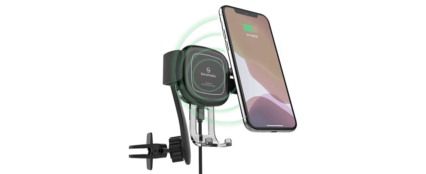 auto clamping wireless car charger mount for phone for car fast qi charging phone holder for car