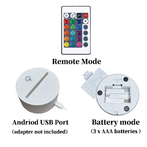 how to countrol battery mode usb port remote control