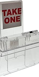 Marketing Holders Outdoor Business Card Holder Clear Lid with Window Hook
