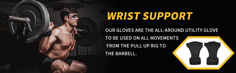 Weight Lifting Gloves Wrist Wraps