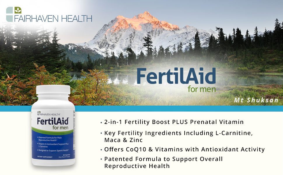 FertilAid Men, clinically proven to improve sperm count, male infertility, doctor approved, motility