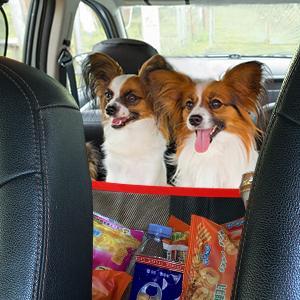 Car Mesh Organizer Between Seats - Handbag Holder Front Seat Storage for Tissue Purse