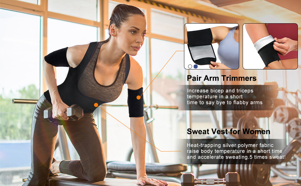 Sauna Sweat vest For use with Arm timmers