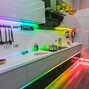 led strip lights kitchen