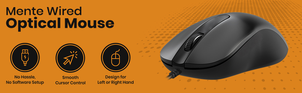 Wired Optical Mouse for PC and Laptop
