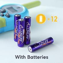 Battery kids  walkie talkies