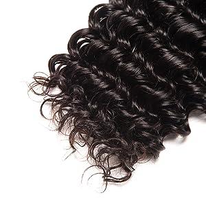 full end healthy end remy hair virgin hair deep wave deep curly human hair bundles with closure