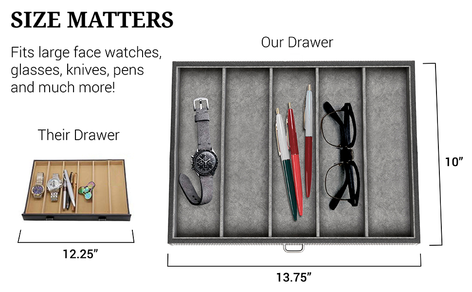 Valet Box Drawer - Size Matters